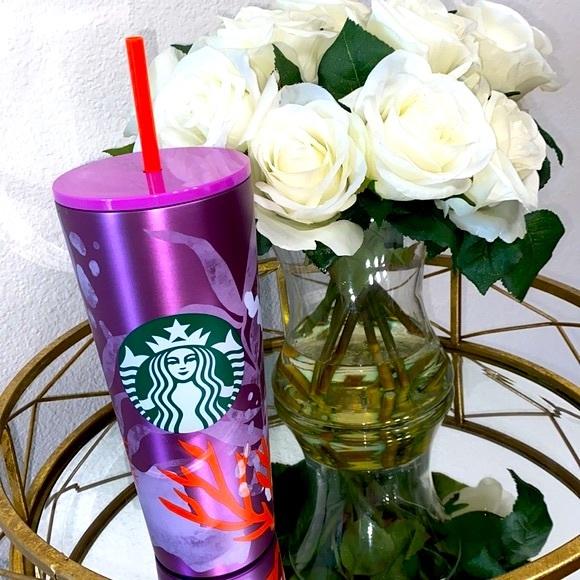 Starbucks Purple Coral Reef Stainless Steel Cup